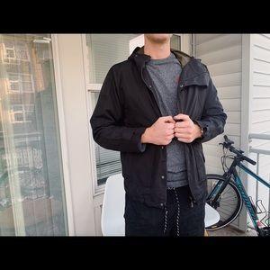 Levi's black rain jacket in large